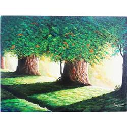 sunlight pouring through tree, 18 x 24 inch, vgo cart,18x24inch,canvas,paintings,nature paintings | scenery paintings,acrylic color,GAL01132727025