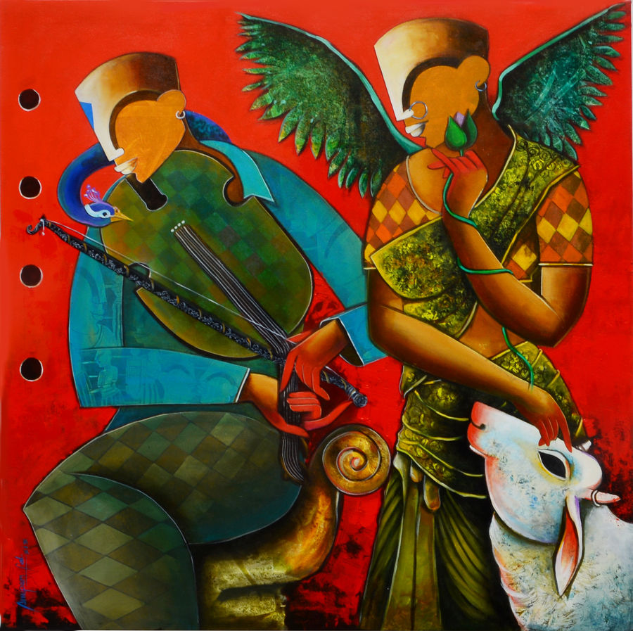 wondrous beauty, 48 x 48 inch, anupam  pal,48x48inch,canvas,paintings,abstract paintings,buddha paintings,figurative paintings,cityscape paintings,modern art paintings,conceptual paintings,still life paintings,paintings for dining room,paintings for living room,paintings for bedroom,paintings for office,paintings for bathroom,paintings for kids room,paintings for hotel,paintings for kitchen,paintings for school,paintings for hospital,acrylic color,GAL08227044