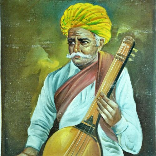 indian old man , 18 x 25 inch, vishal gurjar,18x25inch,canvas,paintings,paintings for living room,paintings for hotel,paintings for school,oil color,GAL0778127051