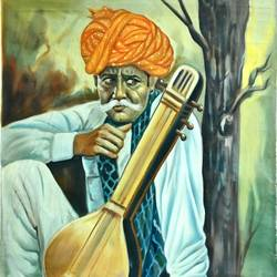 old man, 21 x 25 inch, vishal gurjar,21x25inch,canvas,paintings,portrait paintings,paintings for living room,paintings for hotel,paintings for school,oil color,GAL0778127054