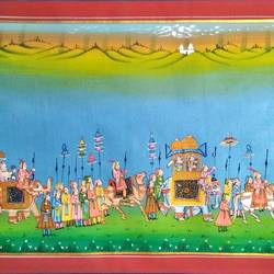 kishangarh shelly, 21 x 15 inch, vishal gurjar,21x15inch,cloth,paintings,miniature painting.,paintings for living room,paintings for hotel,paintings for school,oil color,GAL0778127072
