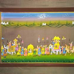 kishangarh shelly, 21 x 16 inch, vishal gurjar,21x16inch,cloth,paintings,miniature painting.,paintings for living room,paintings for hotel,paintings for school,oil color,GAL0778127073
