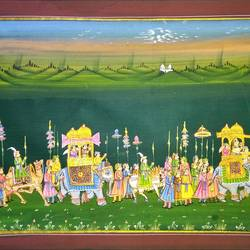 kishangarh shelly, 21 x 15 inch, vishal gurjar,21x15inch,cloth,paintings,miniature painting.,paintings for living room,paintings for hotel,paintings for school,oil color,GAL0778127074