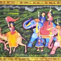 kishangarh shelly, 60 x 20 inch, vishal gurjar,60x20inch,cloth,paintings,miniature painting.,paintings for living room,paintings for hotel,paintings for school,oil color,GAL0778127083