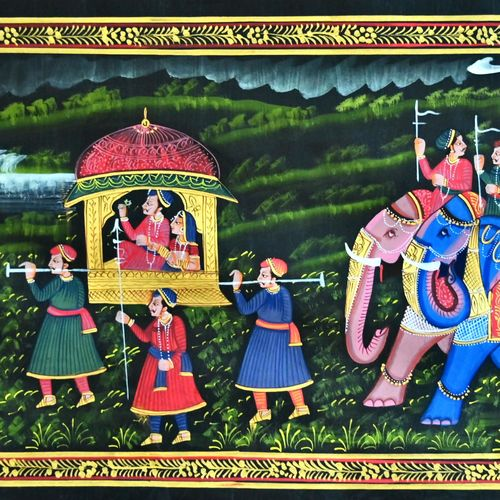 kishangarh shelly, 37 x 16 inch, vishal gurjar,37x16inch,cloth,paintings,miniature painting.,paintings for hotel,paintings for school,oil color,GAL0778127089