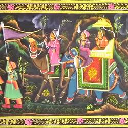 kishangarh shelly, 37 x 14 inch, vishal gurjar,37x14inch,cloth,paintings,miniature painting.,paintings for living room,paintings for hotel,paintings for school,oil color,GAL0778127096