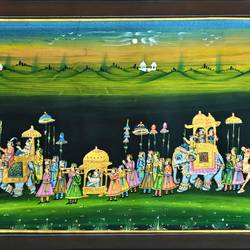 kishangarh shelly, 33 x 23 inch, vishal gurjar,33x23inch,cloth,paintings,miniature painting.,paintings for living room,paintings for hotel,paintings for school,oil color,GAL0778127097