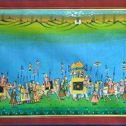 kishangarh shelly, 33 x 23 inch, vishal gurjar,33x23inch,cloth,paintings,miniature painting.,paintings for living room,paintings for hotel,paintings for school,oil color,GAL0778127098