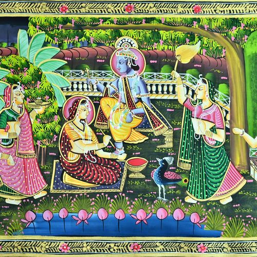 kishangarh shelly, 13 x 17 inch, vishal gurjar,13x17inch,cloth,paintings,paintings for living room,paintings for hotel,paintings for school,oil color,GAL0778127099