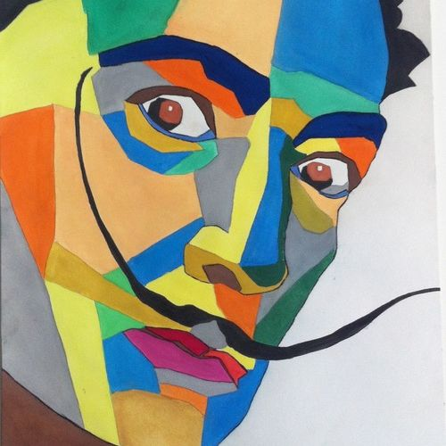 salvador , 11 x 15 inch, jay ramani,portrait paintings,paintings for living room,thick paper,watercolor,11x15inch,GAL0114271