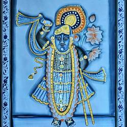 shree nath ji , 18 x 27 inch, vishal gurjar,18x27inch,cloth,paintings,religious paintings,paintings for living room,paintings for hotel,paintings for living room,paintings for hotel,oil color,GAL0778127112