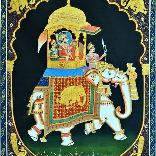 king, 11 x 14 inch, vishal gurjar,11x14inch,cloth,paintings,miniature painting.,paintings for hotel,oil color,GAL0778127141