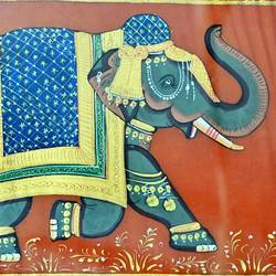 royal elephant, 22 x 16 inch, vishal gurjar,22x16inch,cloth,paintings,elephant paintings,miniature painting.,paintings for hotel,oil color,GAL0778127146
