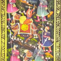 kishangarh shelly, 14 x 37 inch, vishal gurjar,14x37inch,cloth,paintings,miniature painting.,paintings for living room,paintings for hotel,oil color,GAL0778127152