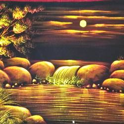 nature, 47 x 23 inch, vishal gurjar,47x23inch,cloth,paintings,nature paintings | scenery paintings,miniature painting.,paintings for living room,paintings for hotel,mixed media,oil color,GAL0778127164
