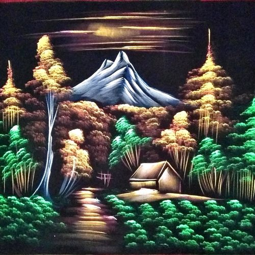 nature, 27 x 21 inch, vishal gurjar,27x21inch,cloth,paintings,nature paintings | scenery paintings,paintings for living room,paintings for hotel,oil color,GAL0778127165