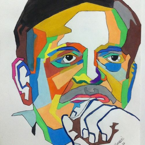 gulzar, 11 x 15 inch, jay ramani,portrait paintings,paintings for living room,thick paper,watercolor,11x15inch,GAL0114272