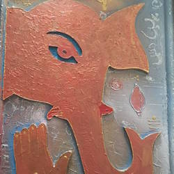 jai ganesha , 18 x 26 inch, ranita sharma,18x26inch,wood board,paintings,religious paintings,mixed media,wood,GAL01370527209