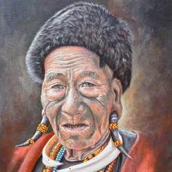 konyak of nagaland, 16 x 20 inch, debojyoti boruah,16x20inch,canvas board,paintings,figurative paintings,portrait paintings,photorealism paintings,photorealism,contemporary paintings,realistic paintings,paintings for dining room,paintings for living room,paintings for bedroom,paintings for office,paintings for hotel,paintings for kitchen,paintings for school,acrylic color,GAL01261427215