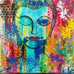 meditating buddha, 12 x 12 inch, indra pandey,12x12inch,canvas,paintings,abstract paintings,buddha paintings,figurative paintings,paintings for dining room,paintings for living room,paintings for bedroom,paintings for office,paintings for kids room,paintings for hotel,paintings for kitchen,paintings for school,paintings for hospital,paintings for dining room,paintings for living room,paintings for bedroom,paintings for office,paintings for kids room,paintings for hotel,paintings for kitchen,paintings for school,paintings for hospital,acrylic color,GAL01406327224