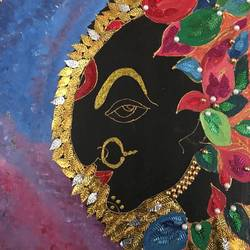 kali maa, 16 x 20 inch, ranita sharma,16x20inch,canvas,paintings,religious paintings,acrylic color,GAL01370527226