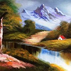 nature landscape painting, 20 x 10 inch, sripati sahoo,20x10inch,canvas,paintings,landscape paintings,nature paintings | scenery paintings,acrylic color,GAL0269427227