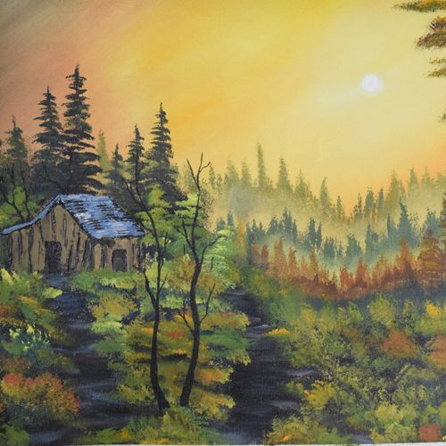 morning show, 16 x 21 inch, shankhadeep  mondal,16x21inch,canvas,paintings,landscape paintings,paintings for living room,acrylic color,GAL01403027247