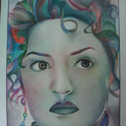 kate winslet, 14 x 21 inch, samiksha  singh,portrait paintings,paintings for living room,paper,pencil color,14x21inch,GAL010512726