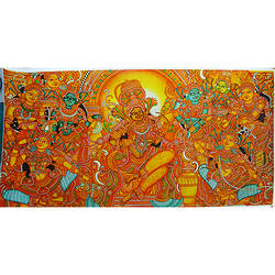 group of gods mural art, 36 x 19 inch, vgo cart,36x19inch,canvas,paintings,kerala murals painting,oil color,GAL01132727264