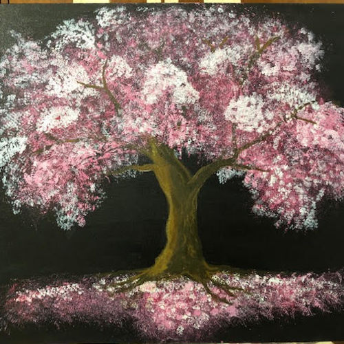 wishing tree, 24 x 30 inch, arnab gazi,24x30inch,canvas,paintings,nature paintings | scenery paintings,paintings for dining room,paintings for living room,paintings for bedroom,paintings for office,paintings for hotel,acrylic color,GAL01609127352
