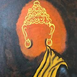 nirvana, 16 x 20 inch, arnab gazi,16x20inch,canvas,paintings,buddha paintings,paintings for dining room,paintings for living room,paintings for bedroom,paintings for office,paintings for kids room,paintings for hotel,paintings for school,paintings for hospital,acrylic color,GAL01609127357