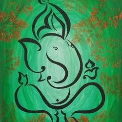 ganpati, 9 x 14 inch, poornima sahu,9x14inch,canvas,paintings,figurative paintings,religious paintings,ganesha paintings | lord ganesh paintings,paintings for office,paintings for hotel,paintings for school,acrylic color,GAL0447127371,ganpati bappa morya,ganesh chaturthi,ganesh murti,elephant god,religious,lord ganesh,ganesha,om,hindu god,shiv parvati, putra,bhakti,blessings,aashirwad,pooja,puja,aarti,ekdant,vakratunda,lambodara,bhalchandra,gajanan,vinayak,prathamesh,vignesh,heramba,siddhivinayak,mahaganpati,omkar,mushak,mouse,ladoo,modak