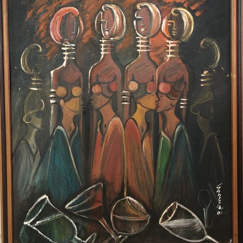 the rave party , 28 x 32 inch, sheela ram deshpande,28x32inch,canvas,paintings,modern art paintings,paintings for living room,paintings for living room,oil color,GAL01640627375