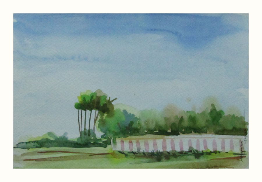 wall, 11 x 8 inch, saravanan v,nature paintings,paintings for living room,landscape paintings,canson paper,watercolor,11x8inch,GAL09142739Nature,environment,Beauty,scenery,greenery
