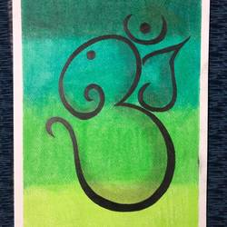 lord ganesha, 12 x 17 inch, arnab gazi,12x17inch,drawing paper,drawings,ganesha drawings,paintings for dining room,paintings for living room,paintings for office,paintings for hotel,paintings for school,paintings for hospital,pastel color,GAL01609127420