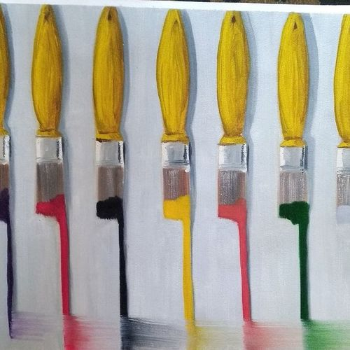 7 brushes, 16 x 20 inch, sumit maurya,16x20inch,canvas,paintings,abstract paintings,modern art paintings,conceptual paintings,abstract expressionism paintings,expressionism paintings,illustration paintings,minimalist paintings,pop art paintings,realism paintings,realistic paintings,paintings for dining room,paintings for living room,paintings for bedroom,paintings for office,paintings for bathroom,paintings for hotel,paintings for school,paintings for hospital,oil color,GAL01345727449
