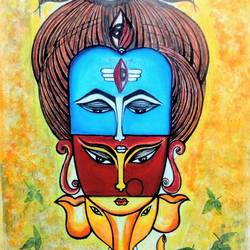 shiva family, 14 x 21 inch, priya prakash,14x21inch,oil sheet,paintings,abstract paintings,figurative paintings,modern art paintings,conceptual paintings,religious paintings,expressionism paintings,pop art paintings,ganesha paintings | lord ganesh paintings,contemporary paintings,lord shiva paintings,paintings for dining room,paintings for living room,paintings for bedroom,paintings for office,paintings for kids room,paintings for hotel,paintings for school,paintings for hospital,oil color,GAL0915827455,ganpati bappa morya,ganesh chaturthi,ganesh murti,elephant god,religious,lord ganesh,ganesha,om,hindu god,shiv parvati, putra,bhakti,blessings,aashirwad,pooja,puja,aarti,ekdant,vakratunda,lambodara,bhalchandra,gajanan,vinayak,prathamesh,vignesh,heramba,siddhivinayak,mahaganpati,omkar,mushak,mouse,ladoo,modak