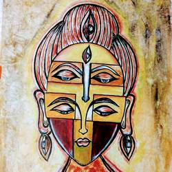 buddha divya netra, 14 x 21 inch, priya prakash,14x21inch,oil sheet,paintings,abstract paintings,buddha paintings,figurative paintings,modern art paintings,street art,contemporary paintings,paintings for dining room,paintings for living room,paintings for bedroom,paintings for office,paintings for kids room,paintings for hotel,paintings for school,paintings for hospital,oil color,GAL0915827456