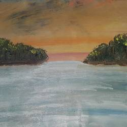 island painting, 16 x 12 inch, raman pandey,16x12inch,canvas,abstract paintings,acrylic color,GAL01642027476