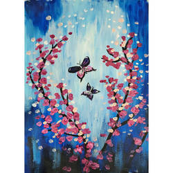 fairy butterflies, 12 x 16 inch, priyanshu sharma,12x16inch,thick paper,abstract paintings,flower paintings,nature paintings | scenery paintings,art deco paintings,paintings for dining room,paintings for living room,paintings for bedroom,paintings for office,paintings for hotel,paintings for hospital,paintings for dining room,paintings for living room,paintings for bedroom,paintings for office,paintings for hotel,paintings for hospital,acrylic color,GAL0973627485