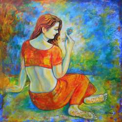 obvious , 36 x 36 inch, dr rashmi  prasad,36x36inch,canvas,paintings,figurative paintings,acrylic color,GAL01436827499
