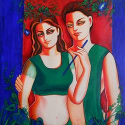 couple 6, 30 x 36 inch, dr rashmi  prasad,30x36inch,canvas,paintings,abstract paintings,figurative paintings,acrylic color,GAL01436827525