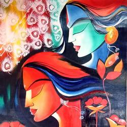 radhekrishna, 21 x 27 inch, apeksha agrawal,21x27inch,oil sheet,figurative paintings,modern art paintings,radha krishna paintings,paintings for dining room,paintings for living room,paintings for bedroom,paintings for office,paintings for hotel,paintings for hospital,paintings for dining room,paintings for living room,paintings for bedroom,paintings for office,paintings for hotel,paintings for hospital,oil color,GAL01501127526