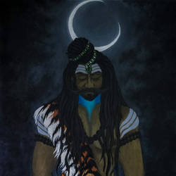 neelkanth, 24 x 36 inch, amey naik,24x36inch,canvas,paintings,abstract paintings,figurative paintings,conceptual paintings,religious paintings,lord shiva paintings,paintings for living room,paintings for office,paintings for kids room,paintings for hotel,paintings for school,paintings for hospital,acrylic color,oil color,GAL0210427531