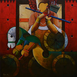 parthasarathi  15, 48 x 48 inch, anupam  pal,48x48inch,canvas,paintings,abstract paintings,buddha paintings,wildlife paintings,figurative paintings,folk art paintings,cityscape paintings,modern art paintings,conceptual paintings,still life paintings,nature paintings | scenery paintings,abstract expressionism paintings,cubism paintings,expressionism paintings,impressionist paintings,pop art paintings,realism paintings,surrealism paintings,animal paintings,contemporary paintings,love paintings,phad painting,kalamkari painting,miniature painting.,gond painting.,kerala murals painting,serigraph paintings,paintings for dining room,paintings for living room,paintings for bedroom,paintings for office,paintings for bathroom,paintings for kids room,paintings for hotel,paintings for kitchen,paintings for school,paintings for hospital,acrylic color,GAL08227538
