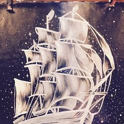galaxy ship, 20 x 24 inch, aarya  singh,conceptual paintings,paintings for bedroom,canvas,acrylic color,20x24inch,GAL09922754