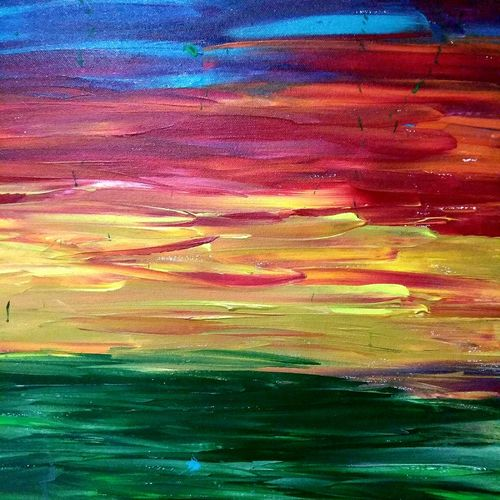 sky-0112, 24 x 30 inch, deepali sinha,24x30inch,canvas,paintings,abstract paintings,acrylic color,GAL01574227543