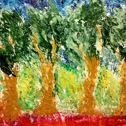 trees - our guardians, 20 x 16 inch, deepali sinha,20x16inch,canvas,paintings,abstract paintings,acrylic color,GAL01574227545