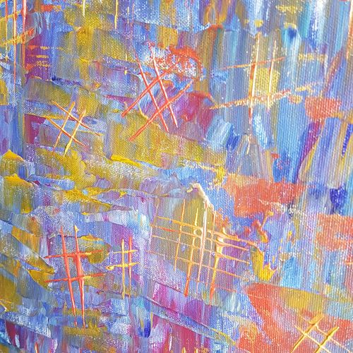 hashtag me!, 24 x 24 inch, deepali sinha,24x24inch,canvas,paintings,abstract paintings,acrylic color,GAL01574227546