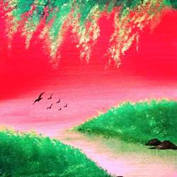 landscape painting, 10 x 12 inch, deepjyoti behuria,10x12inch,canvas,paintings,landscape paintings,paintings for dining room,paintings for living room,paintings for bedroom,paintings for office,paintings for kids room,paintings for hotel,paintings for school,acrylic color,GAL01507227557